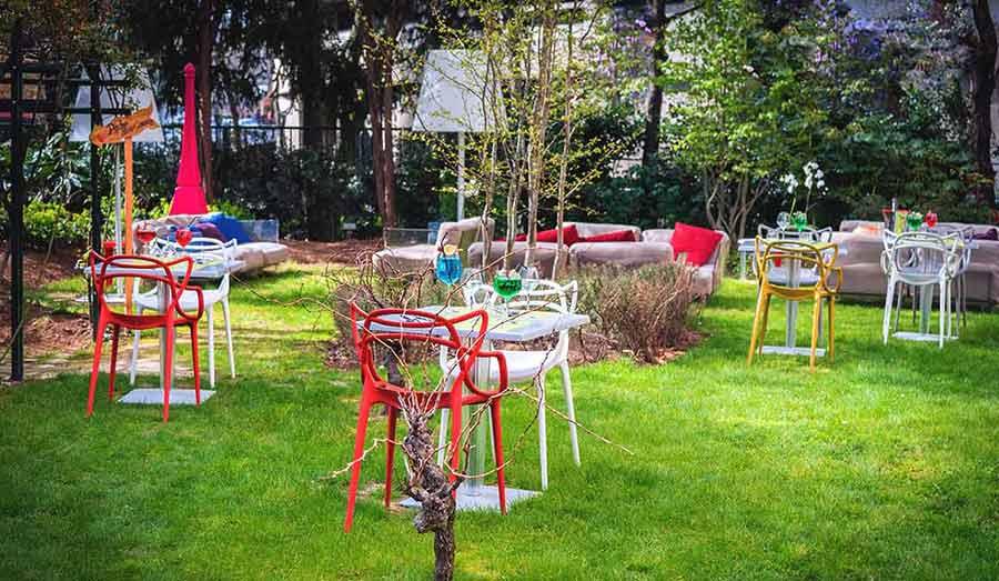 Un espace convivial du Restauarnt Le Jardin Paris 15ème