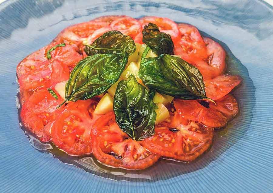 Une salade de tomates du Restaurant Le Jardin