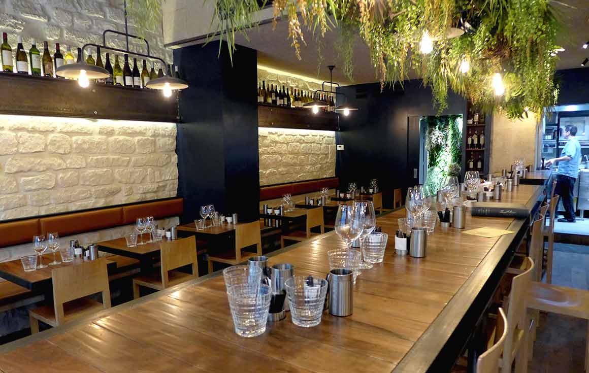 Le Restaurant Pascade à Paris 2ème, la table