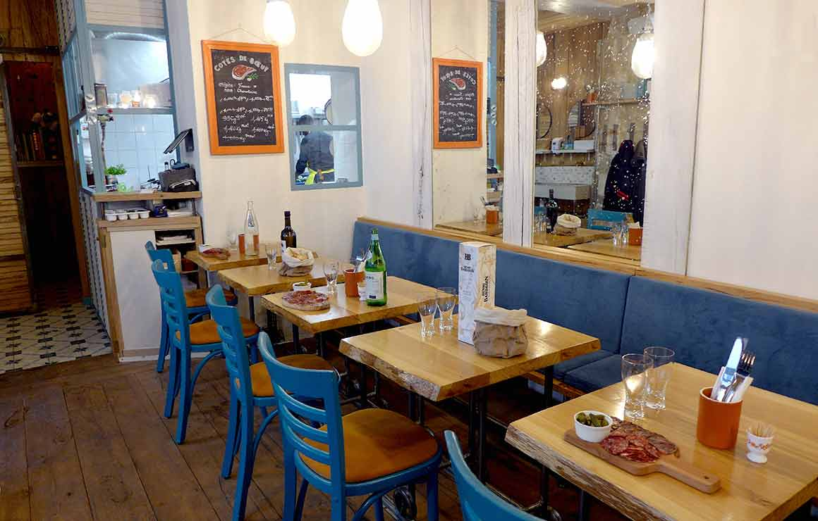La salle du Restaurant Mino à Paris 20ème