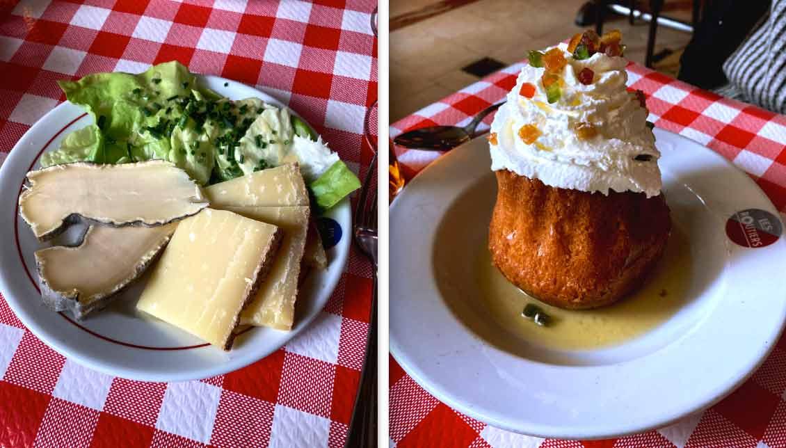 Restaurant Aux Bons Crus Routier fromages et Baba