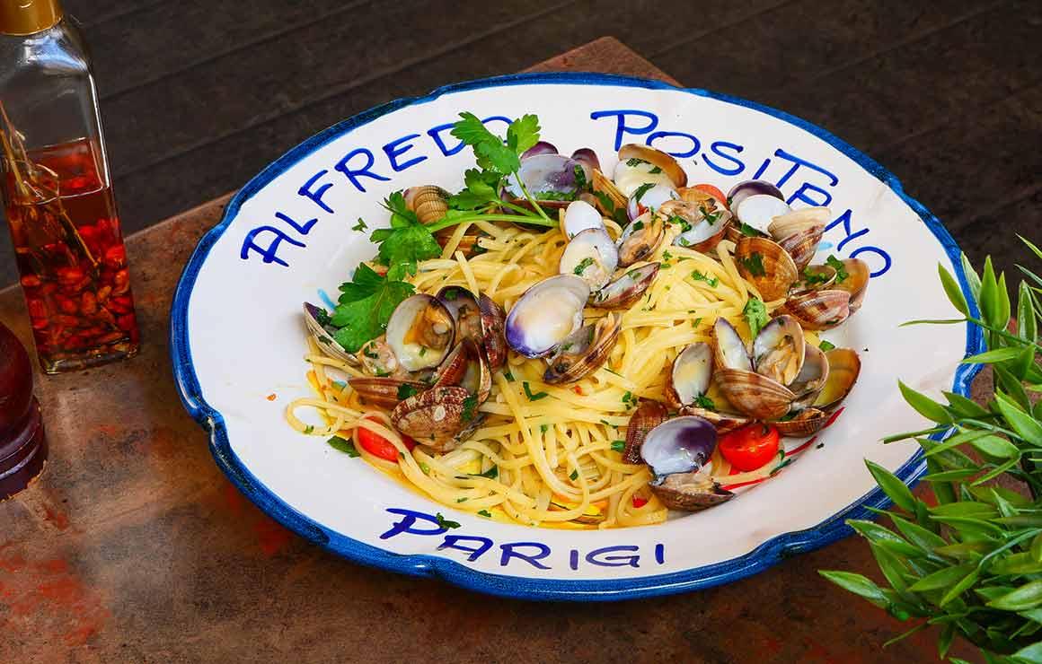 Restaurant Alfredo Positano linguine vongole