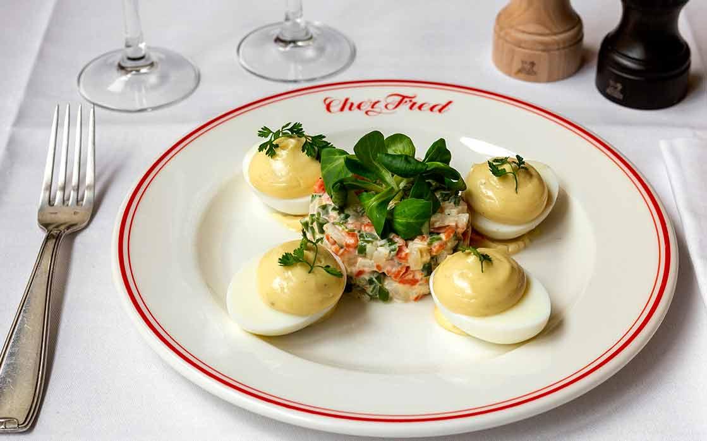 Restaurant Chez Fred oeufs mayonnaise