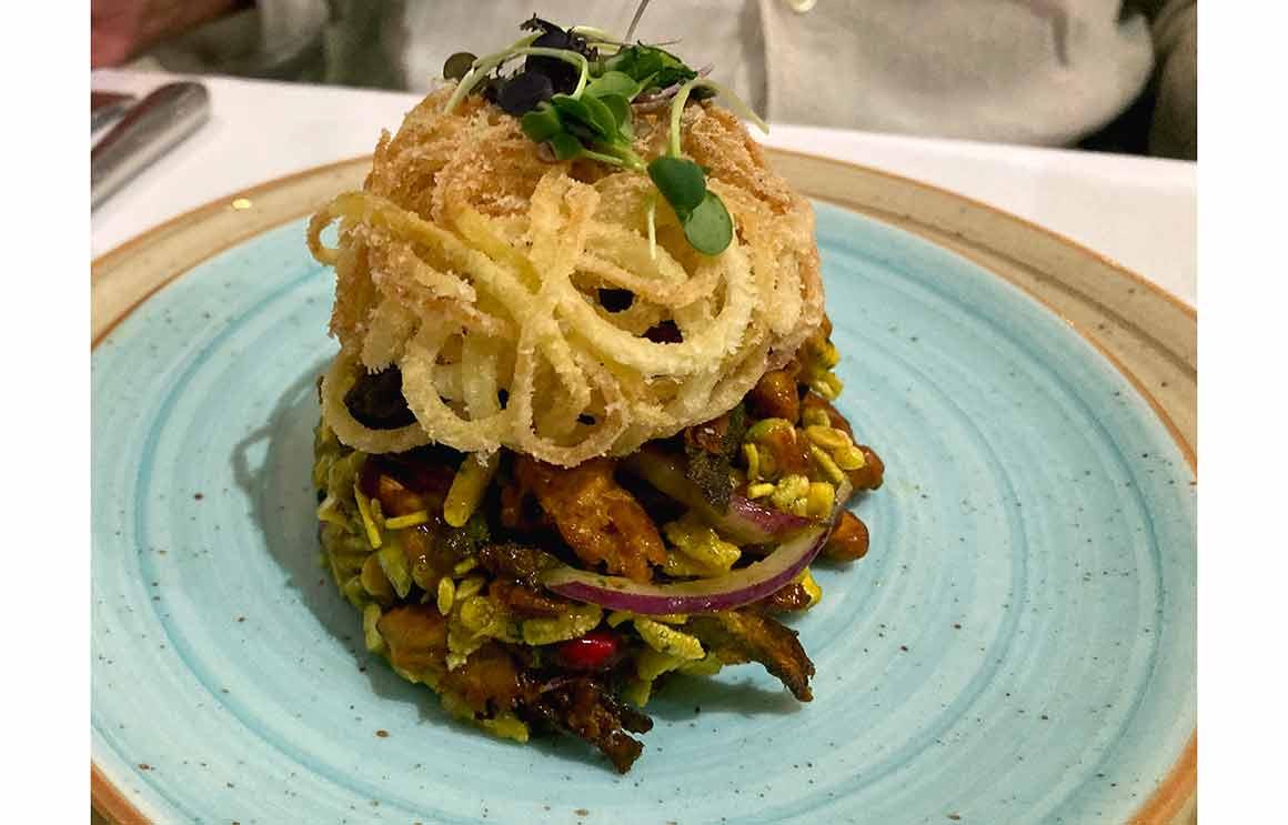 Restaurant Mayfair Garden asperge Okra Chaat