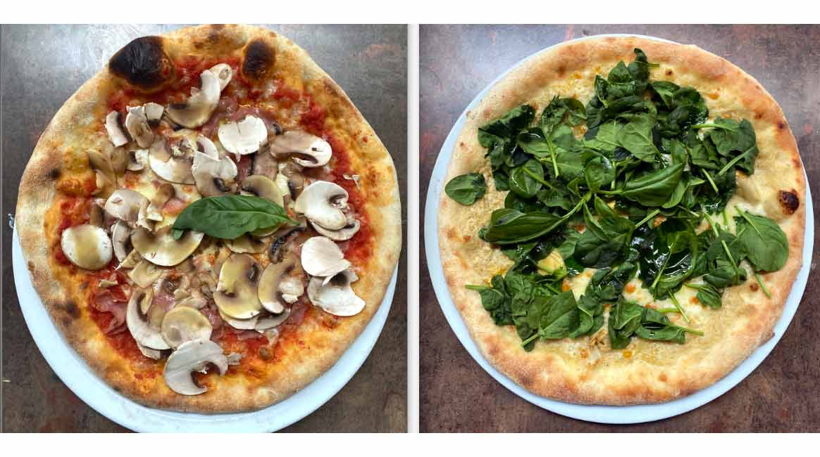 Restaurant Alfredo Positano les pizzas