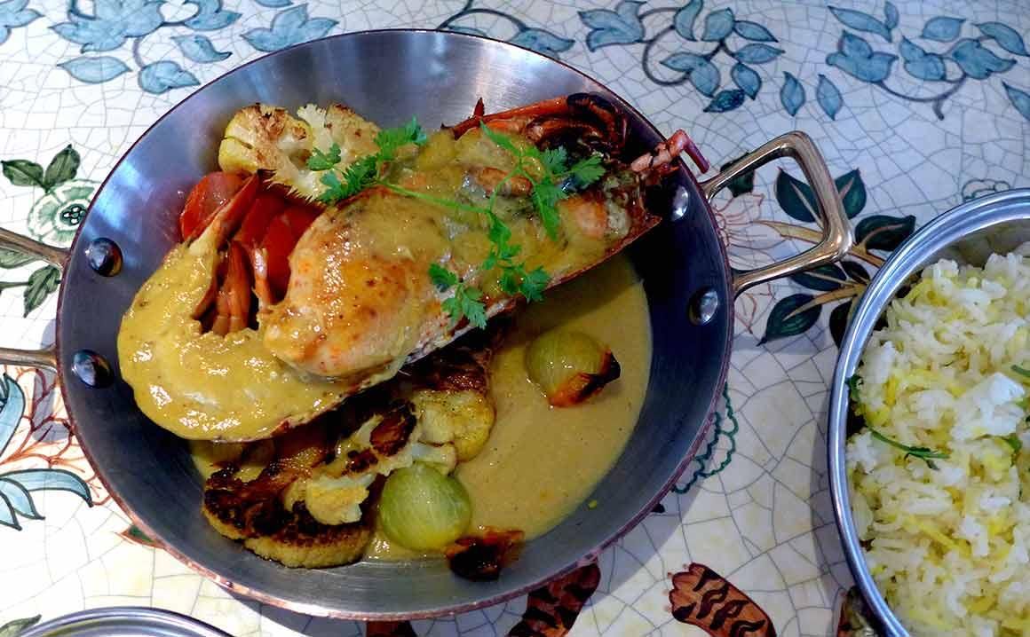 Restaurant Sir Winston Homard rôti au curry doux