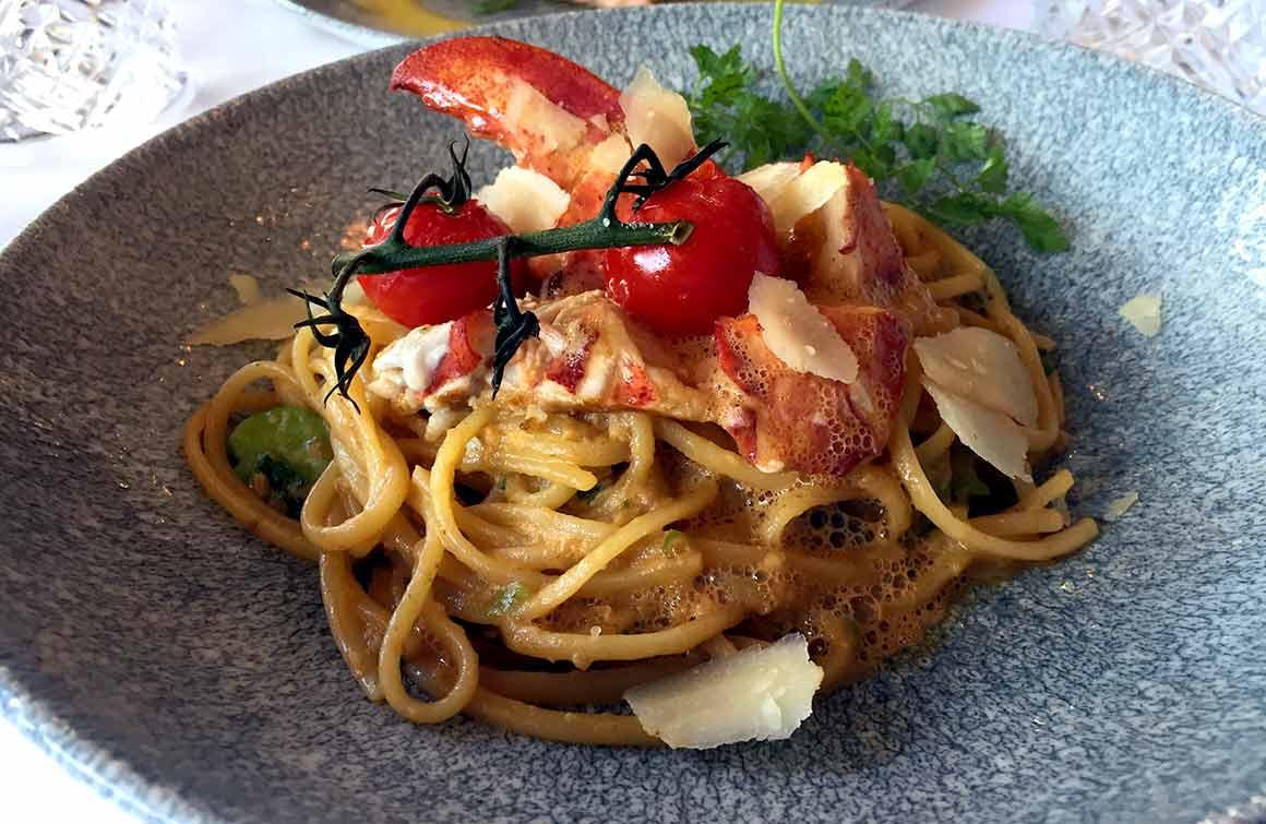Restaurant La Lorraine linguines au homard