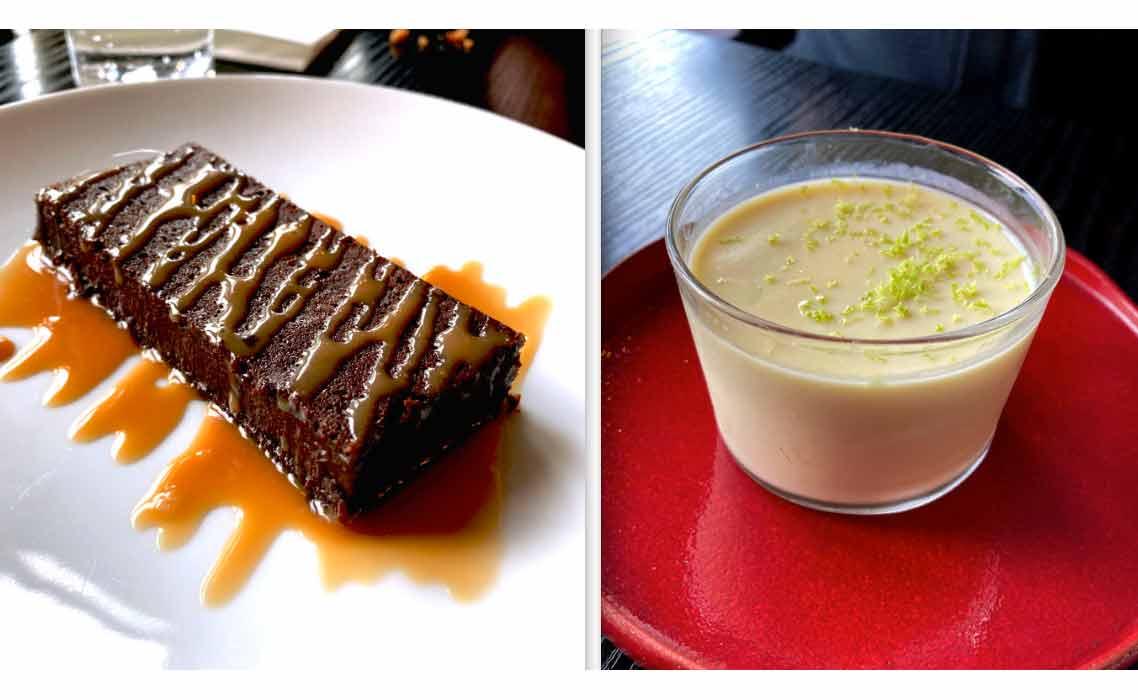 Restaurant Perlimpinpin fondant au chocolat et pana cotta