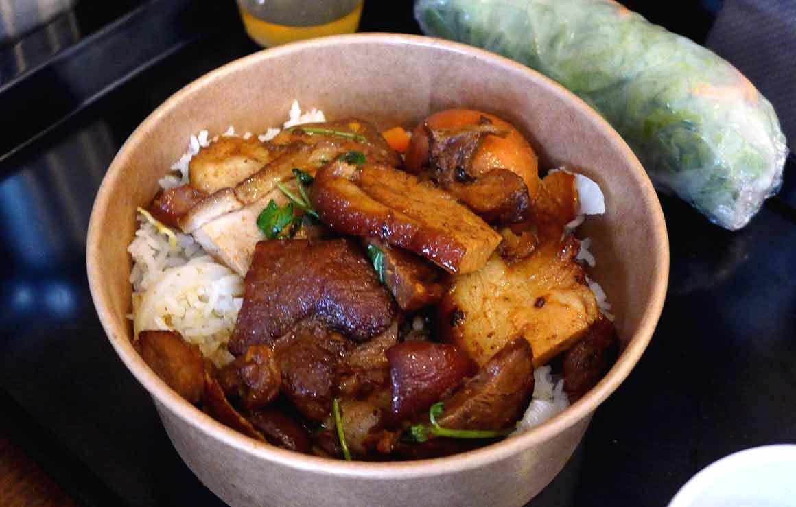 Restaurant Ma Cantine Thai riz et champignons