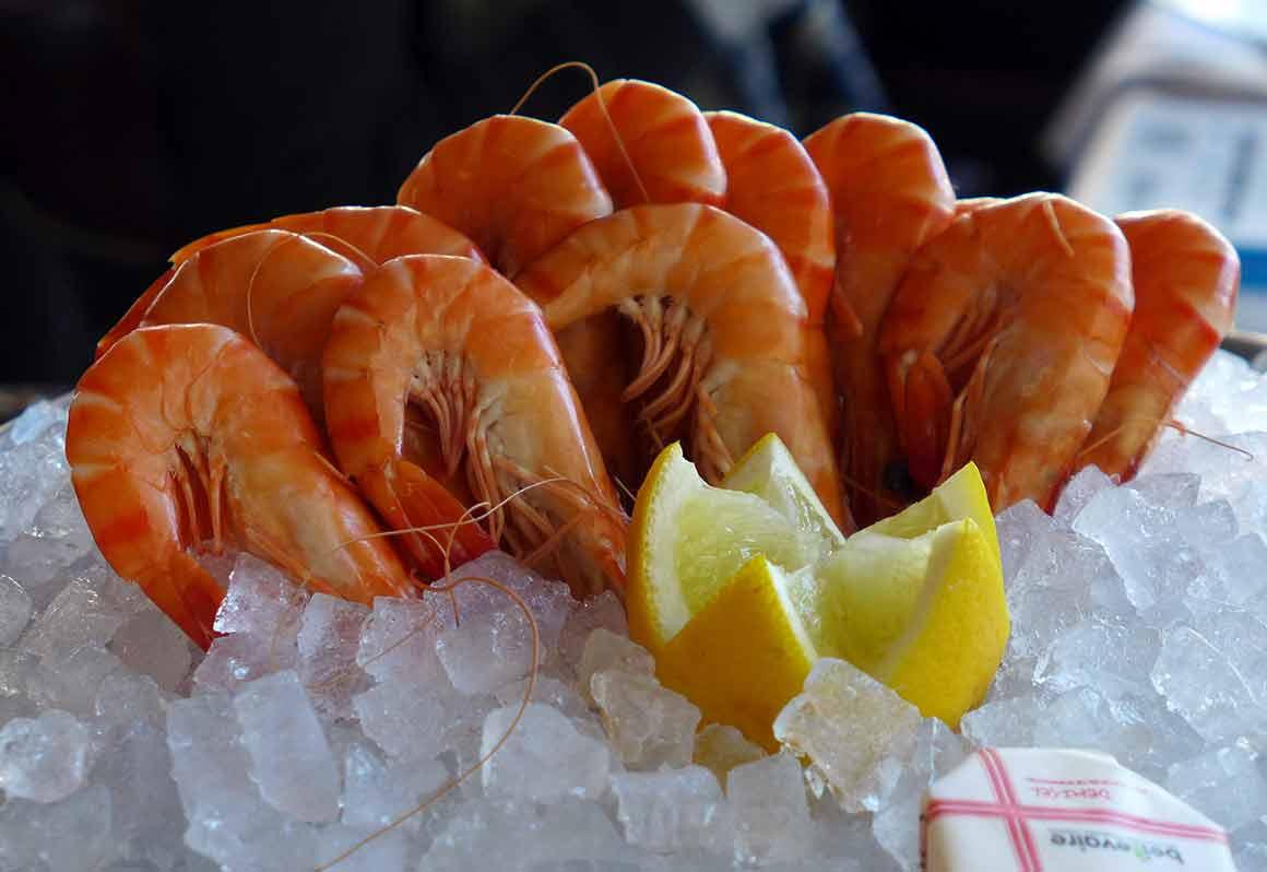 Brasserie l'Alsace, les crevettes roses