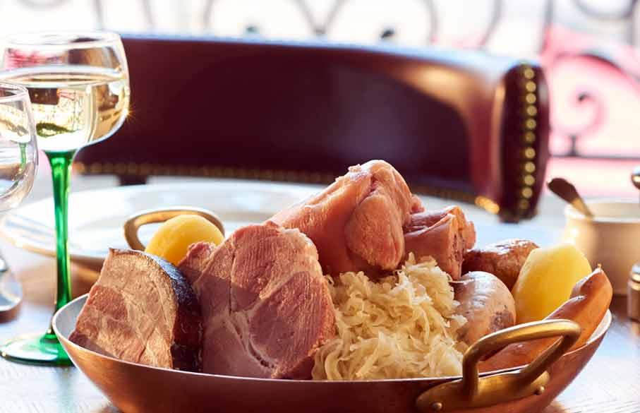 Brasserie l'Alsace, la choucroute