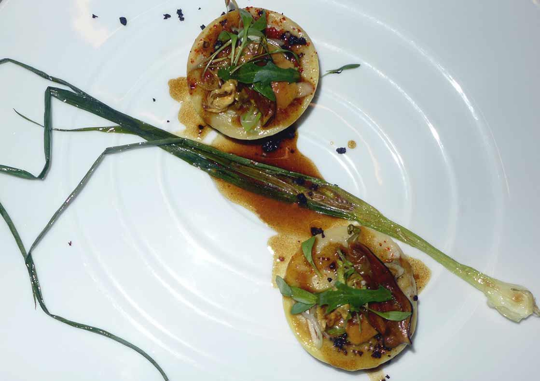 Restaurant La Scène Thélème, Foie gras de canard en ravioles