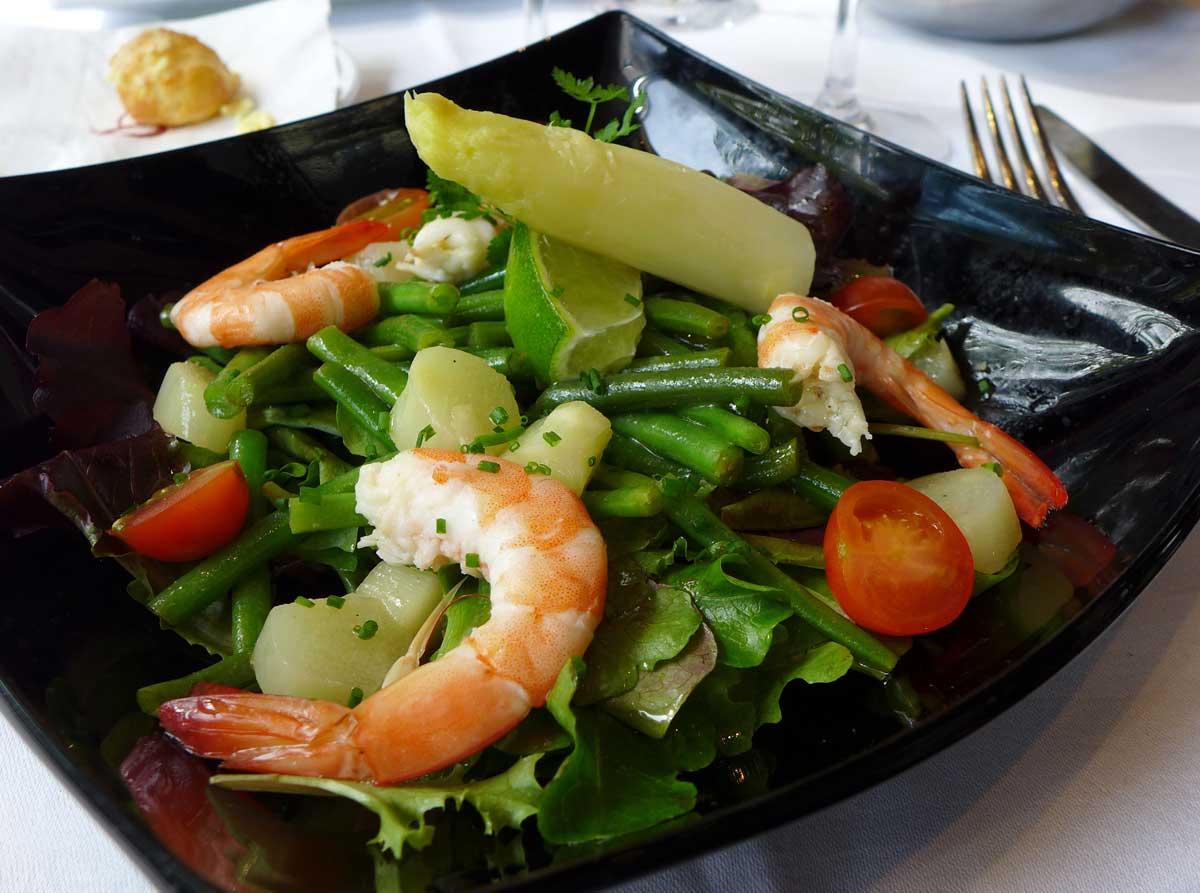 Restaurant Le Berkeley salade de crevettes