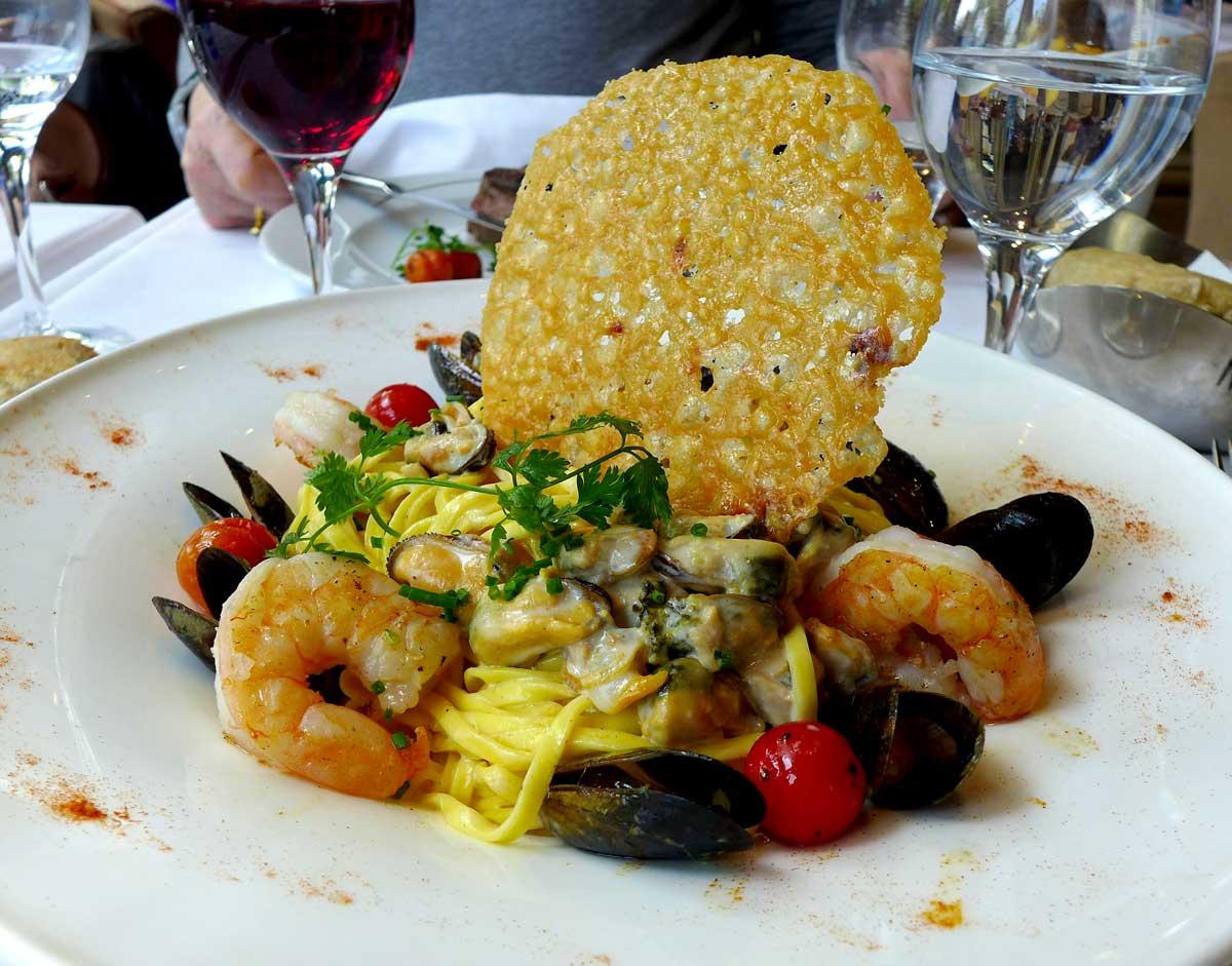 Restaurant Le Berkeley tagliatelles aux langoustines