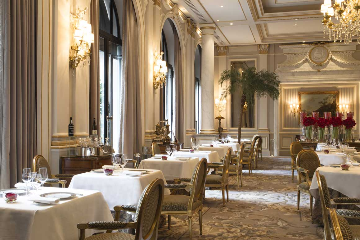 Restaurant Le Cinq, la salle à manger