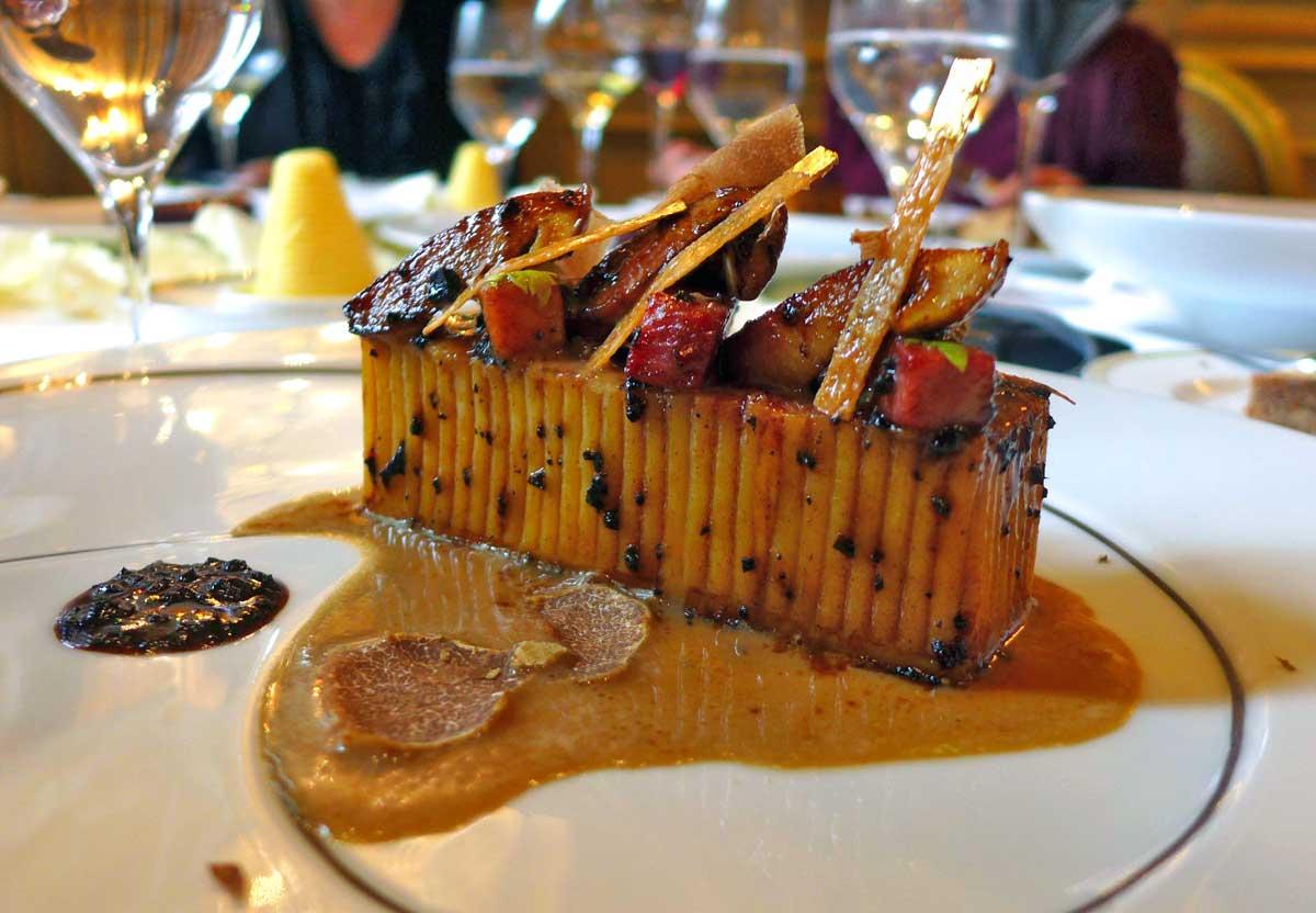 Restaurant Le Cinq, Jambon / cèpes aux spaghettis