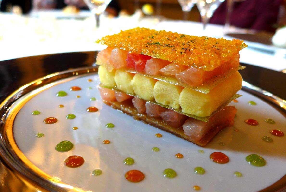 Restaurant Le Cinq, Croquant de pamplemousse :