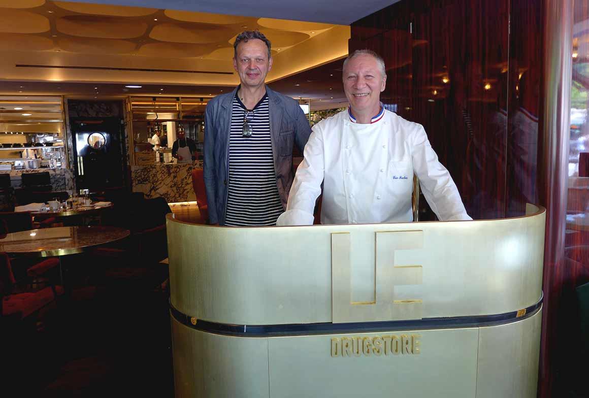 Brasserie Le Drugstore, Le designer Tom Dixon et le chef Eric Frechon