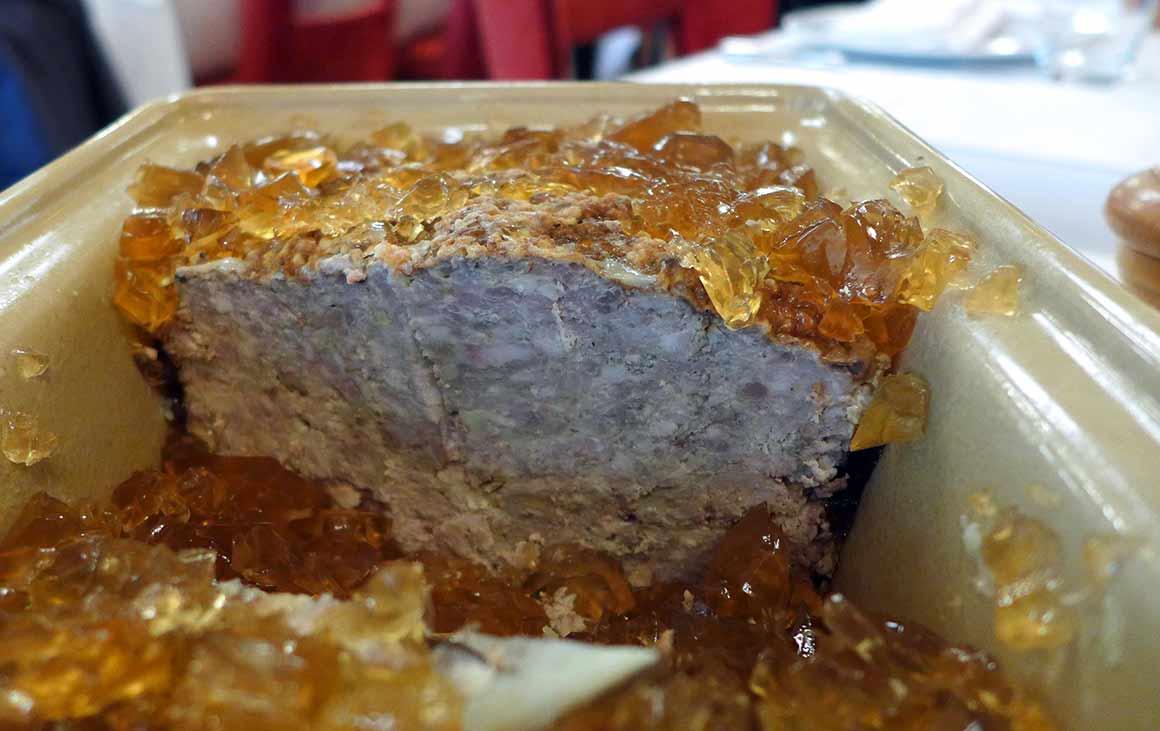 Restaurant Au boeuf couronné, la terrine de campagne