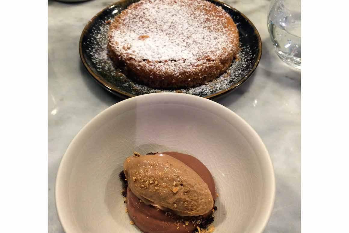 Restaurant Pouliche gâteau noisette