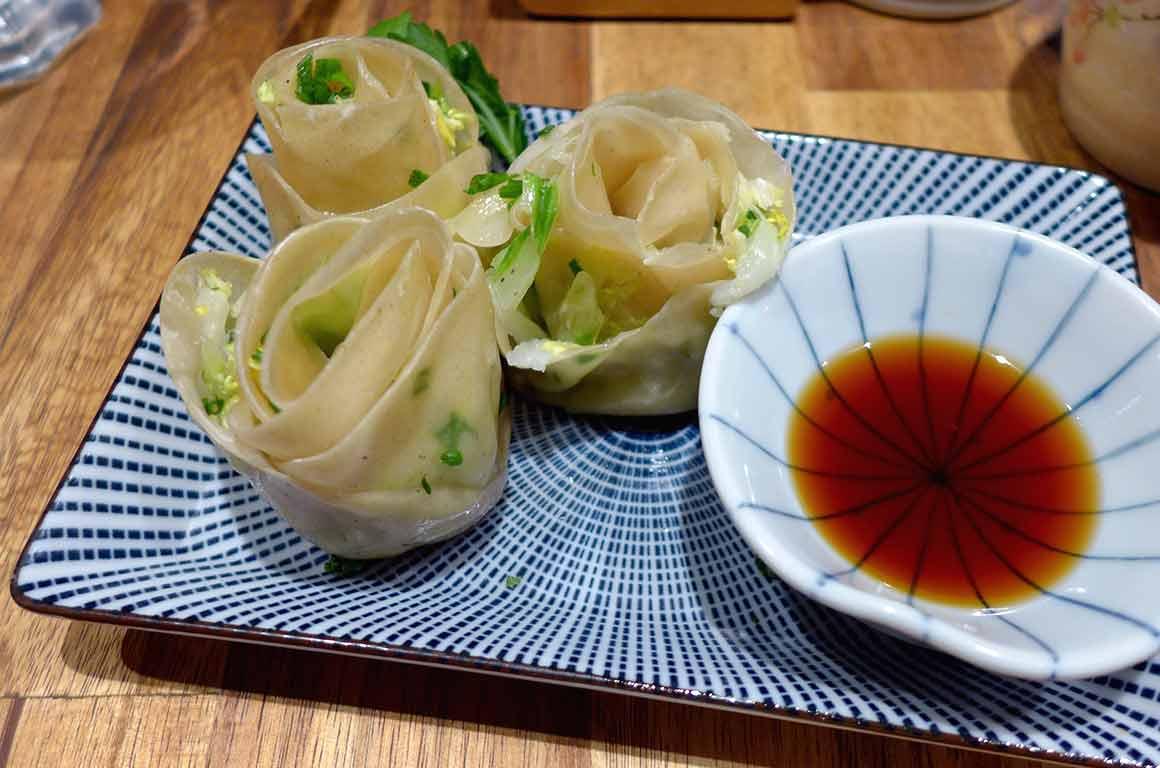 Restaurant Neko Ramen Gyoza aux légumes