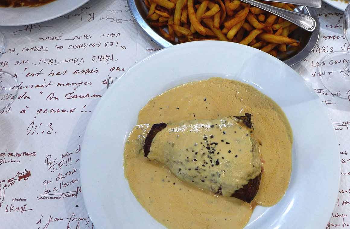Restaurant Le Gourmets des Ternes, steak au poivre