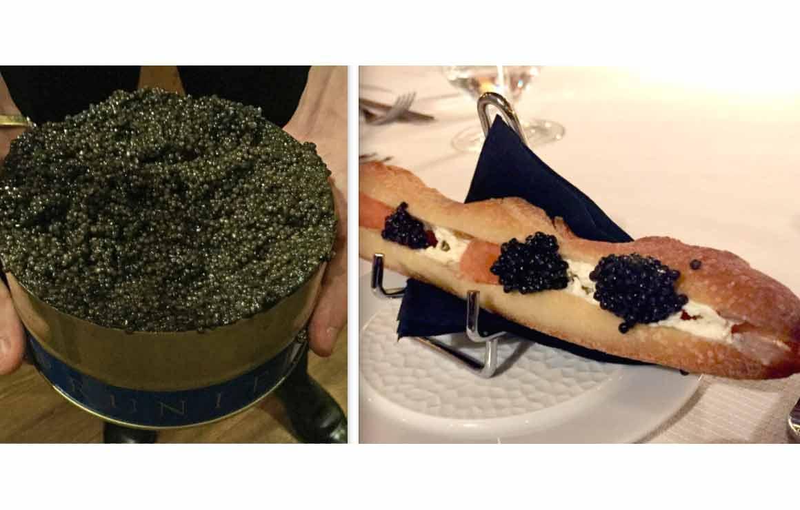 Restaurant Prunier Caviar et baguette