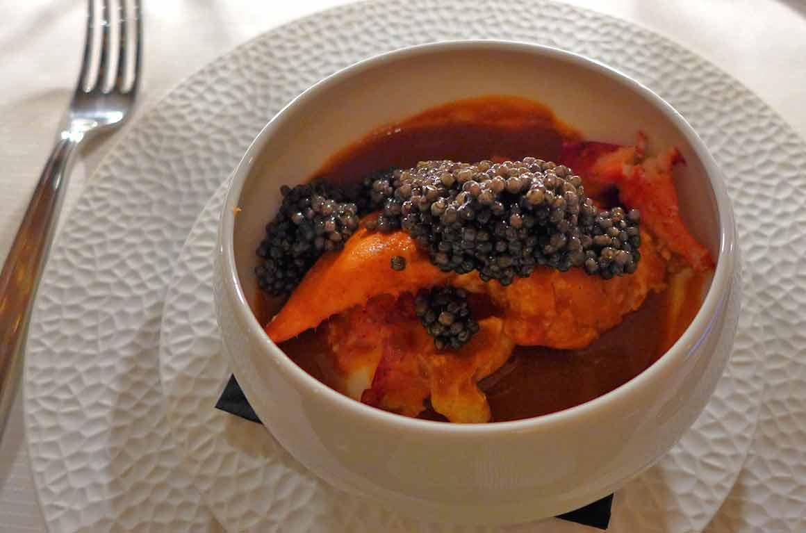 Restaurant Prunier navarin de homard