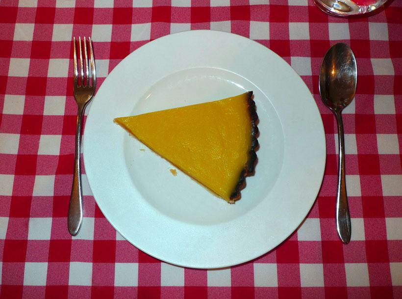 Restaurant Au Petit Tonneau, la  tarte au citron