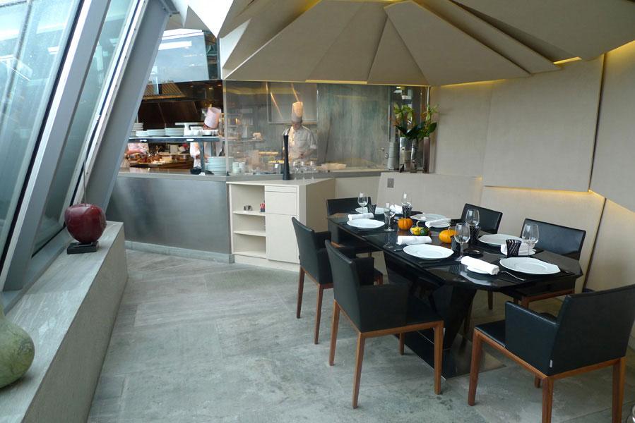 Restaurant Le 39 V, la verrière