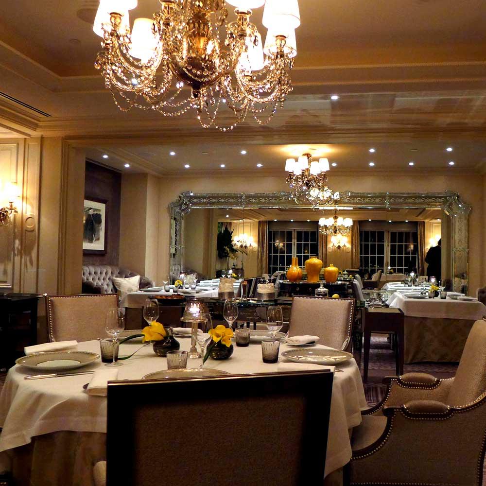 Restaurant L'abeille, chic et élégant