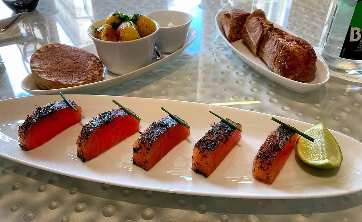 Restaurant La Maison Nordique saumon mariné à l'aneth