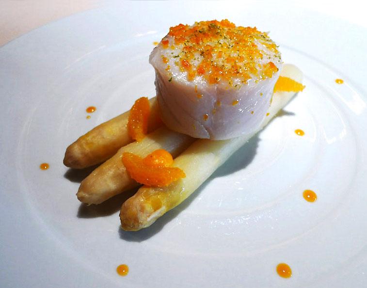 Restaurant Le Quinzième : lieu jaune de ligne cuit à l'huile d'orange