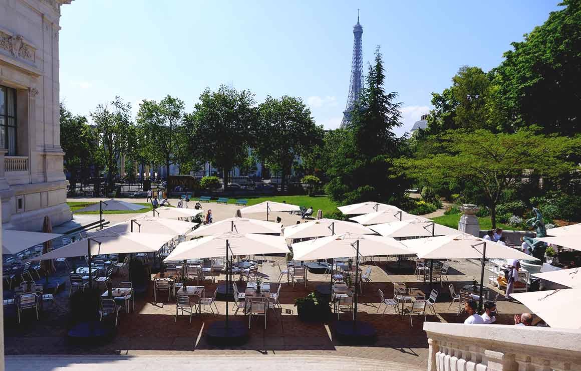 Restaurant Les Petites Mains, la terrasse