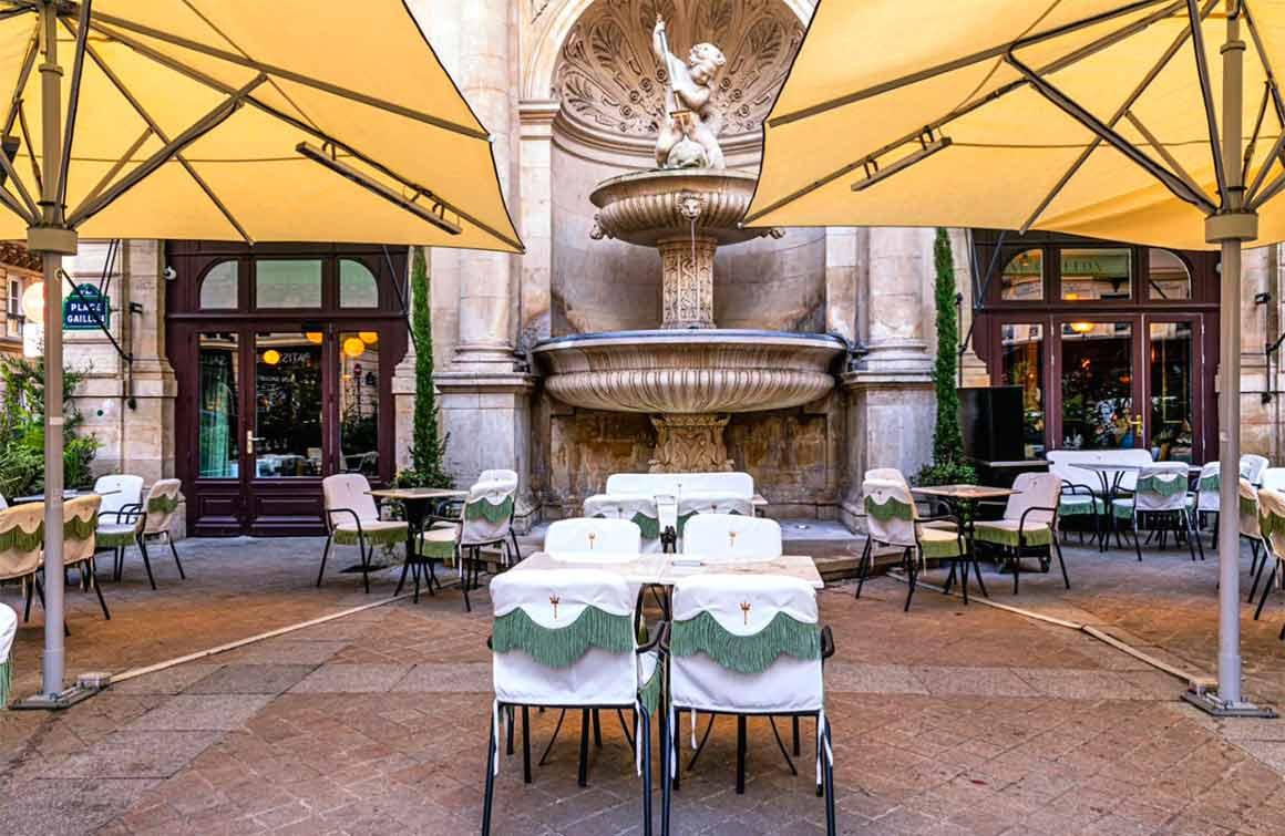 Restaurant La Fontaine Gaillon la terrasse