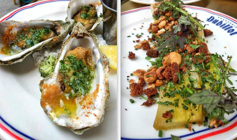 La Brasserie Dubillot huîtres et poireaux
