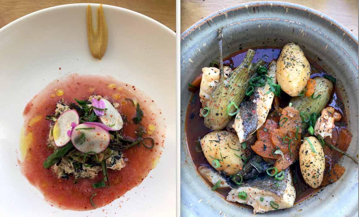 La table d'Estoublon Salade de crabe et Bouillabaisse