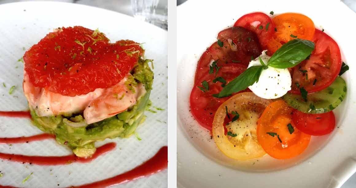 Maison Louveciennes avocat crevettes et tomates
