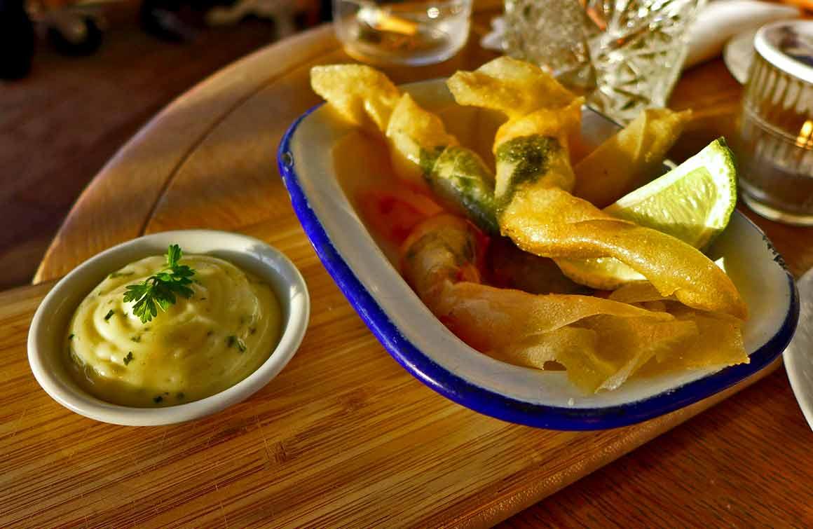 Restaurant Polpo croustillant de gambas