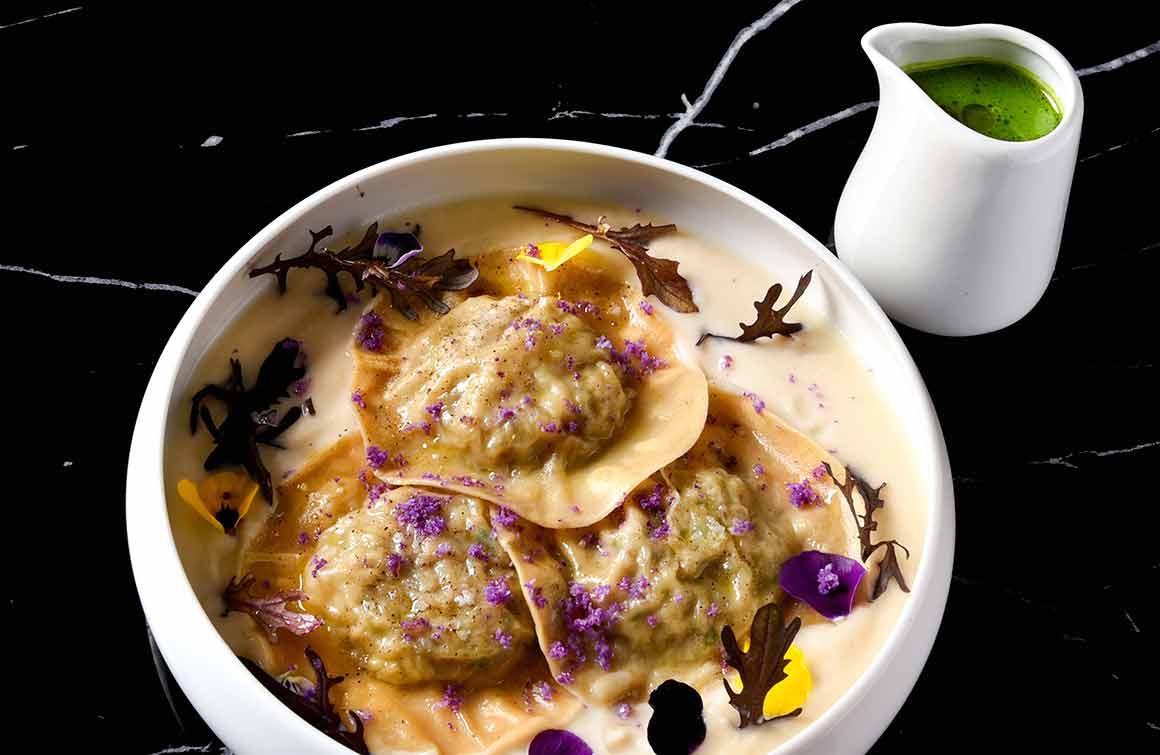 Restaurant Pipalottes La Table Ravioles de céleri