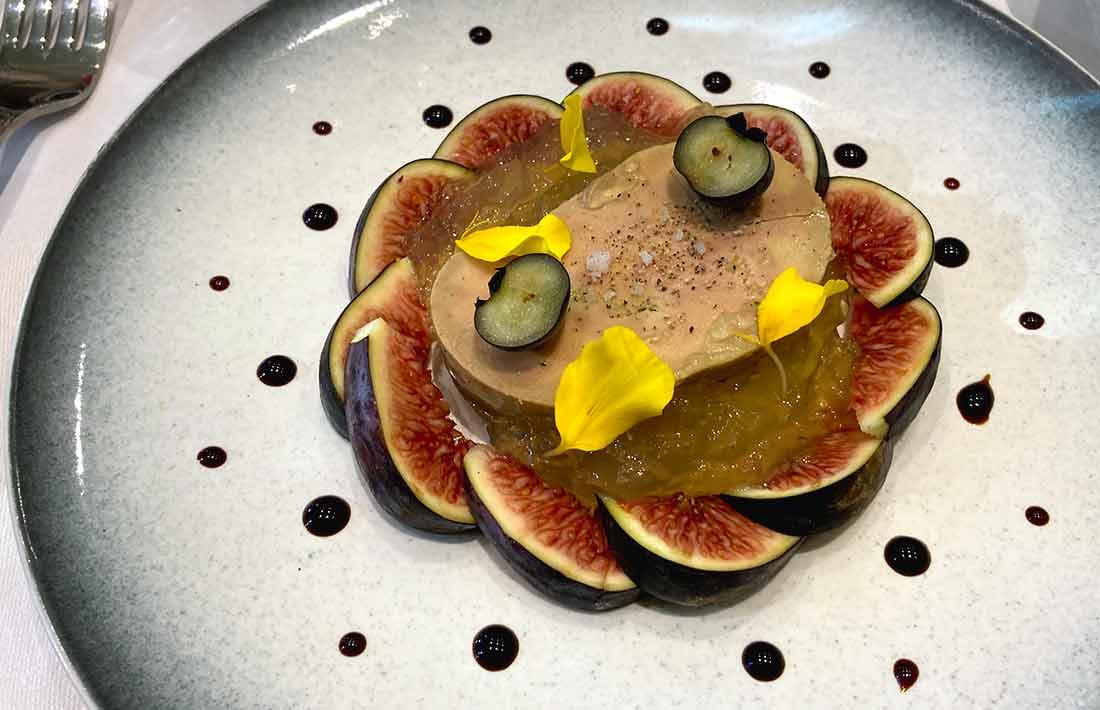 Restaurant L'Atre foie gras et figues