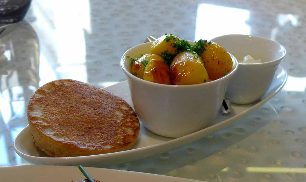 Restaurant La Maison Nordique blini et pommes de terre