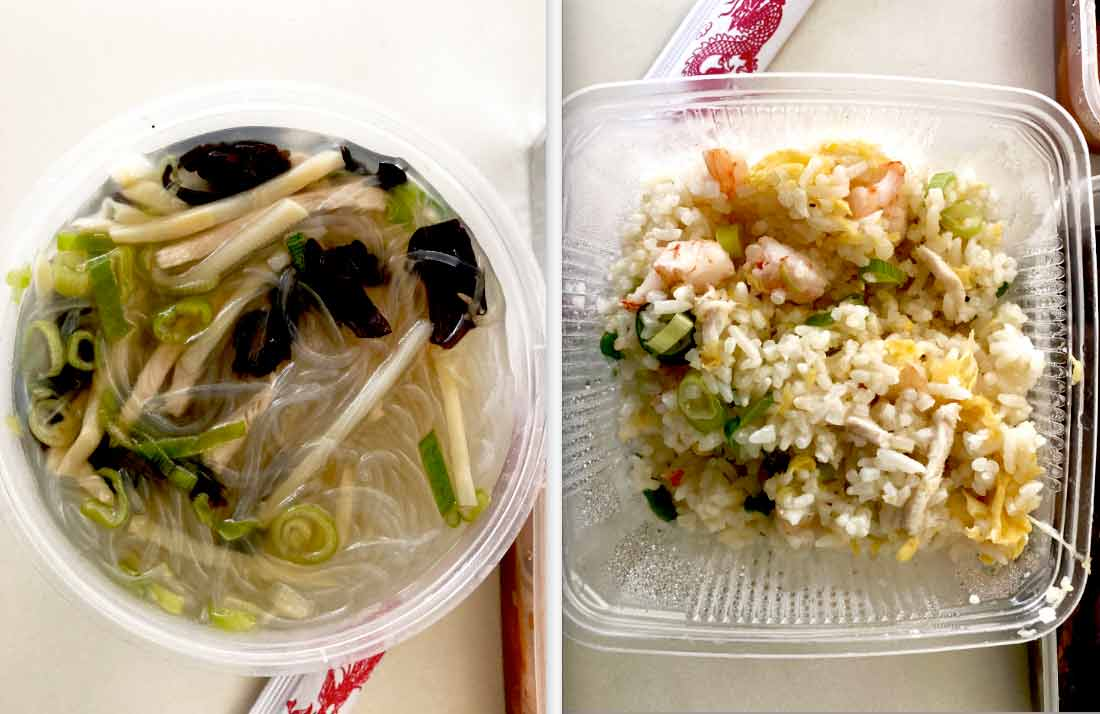 Chez Ly 17e soupe poulet vermicelle et riz cantonnais