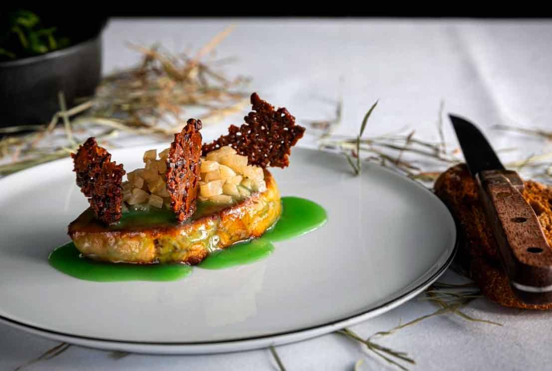Restaurant La Fontaine Gaillon Escalope de foie gras poêlée
