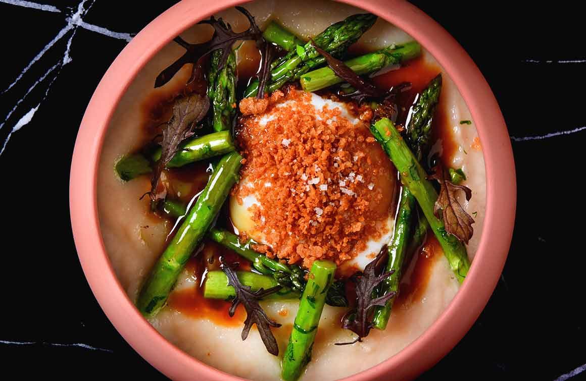 Restaurant Pipalottes La Table Oeuf Parfait asperges