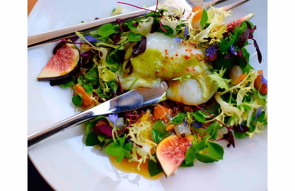 Restaurant Dupin oeuf bio girolles et pleurottes