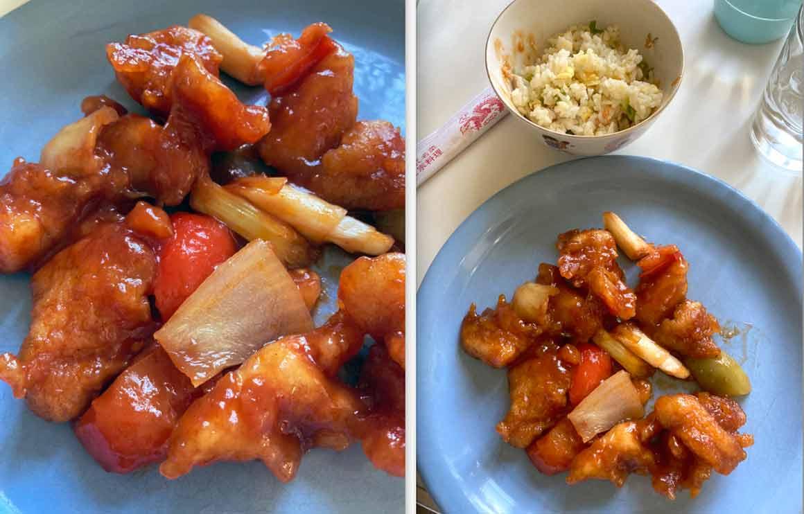 Chez Ly 17e Poulet sauce aigre-douce et riz cantonais