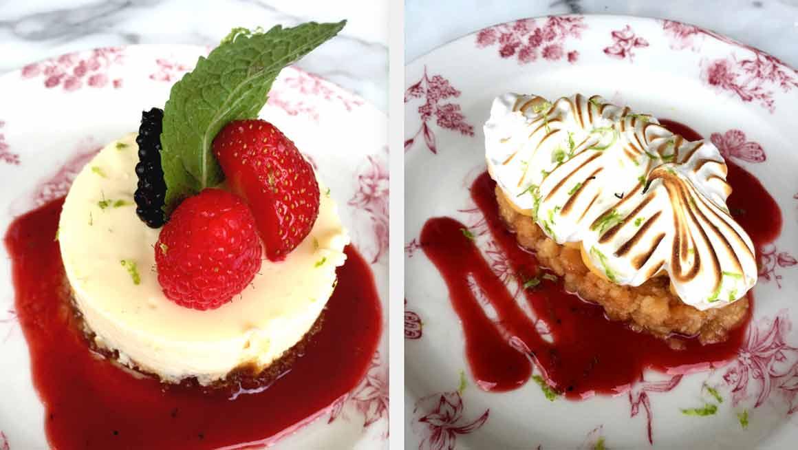 Maison Louveciennes cheese cake et tarte citron