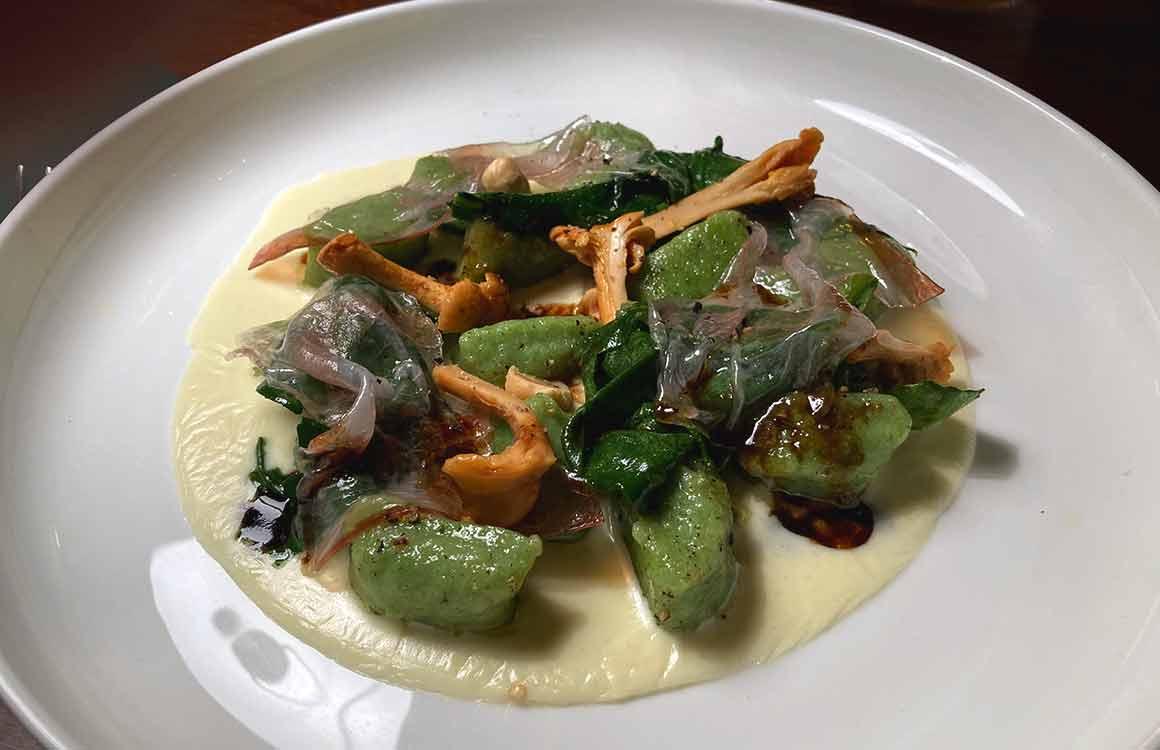 Restaurant Pétrelle gnocchis aux épinard