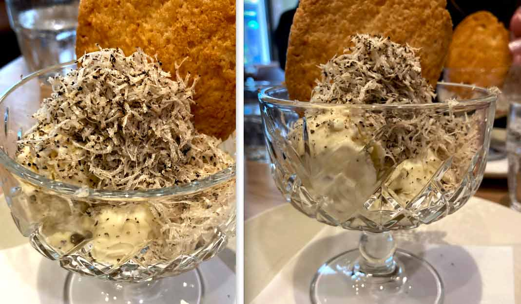 Restaurant Baroche glace vanille et truffe